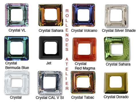 a49f66a8a Swarovski 4439 Cosmic Square Ring - 30mm